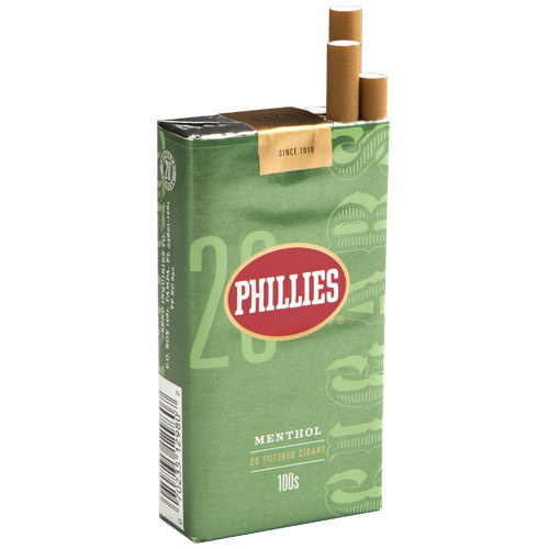 Phillies Filtered Menthol Cigars (10 packs of 20) - Natural