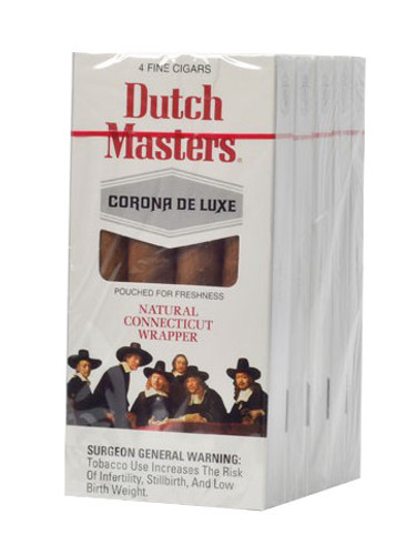 Dutch Masters Corona Deluxe Cigars (5 Packs Of 4) - Natural