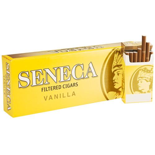 Seneca Filtered Vanilla Cigars (10 Packs of 20) - Natural