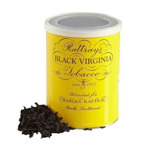 Rattrays Black Viriginia Pipe Tobacco   3.5 OZ TIN