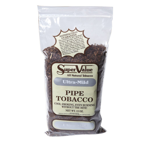 Super Value Ultra Mild Pipe Tobacco   12 OZ BAG