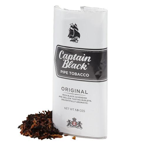 Captain Black Regular Pipe Tobacco | 1.5 OZ POUCH - 6 COUNT