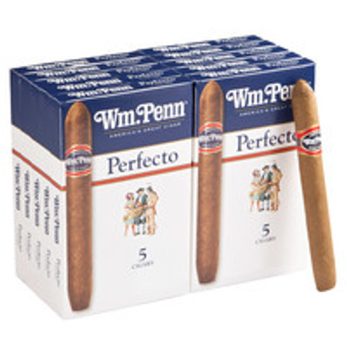 William Penn Perfecto Cigars (10 Packs Of 5) - Natural