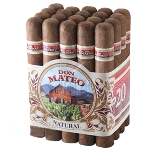Don Mateo #6 Natural Cigars - 6 7/8 x 48 (Bundle of 20)