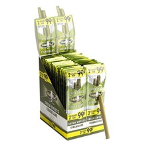 White Owl Cigarillos Green Sweet Cigars (30 Packs of 2) - Candela