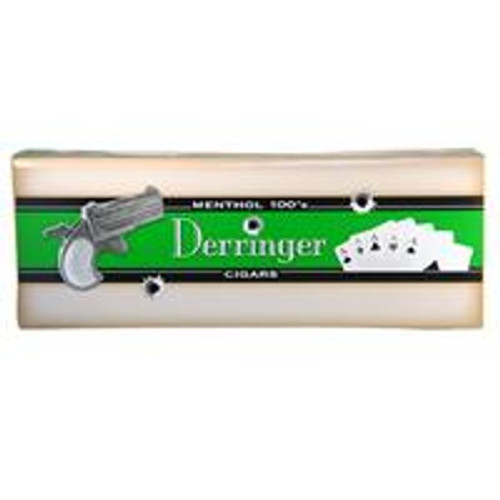 Derringer Filtered Menthol Cigars (10 Packs of 20) - Natural