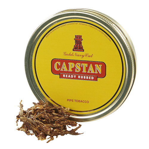 Capstan Gold Ready-Rubbed Pipe Tobacco | 1.75 OZ TIN