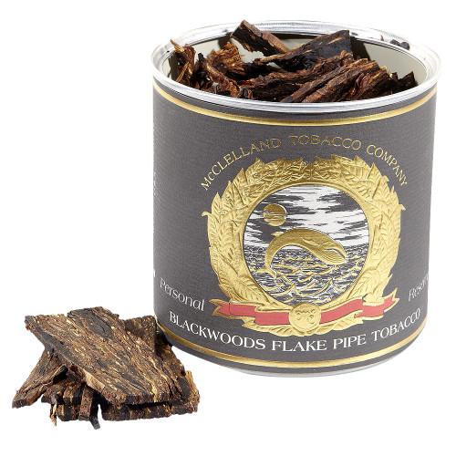 McClelland Blackwoods Flake Pipe Tobacco   3.5 OZ TIN