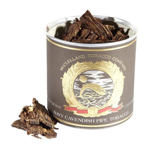 McClelland Matured Virginias Navy Cavendish Pipe Tobacco   3.5 OZ TIN