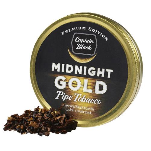 Captain Black Midnight Gold Pipe Tobacco | 1.75 OZ TIN