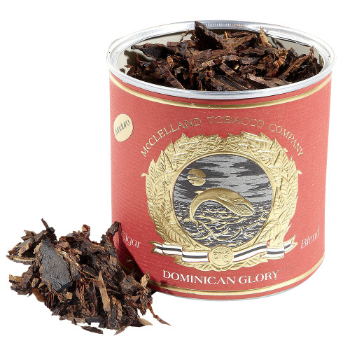 McClelland Cigar Blends Dominican Glory Maduro Pipe Tobacco   3.5 OZ TIN