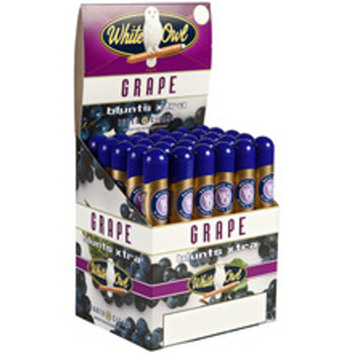 White Owl Blunts Xtra Grape Tube Cigars (Upright Box of 30) - Natural