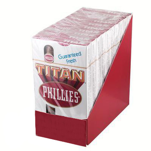 Phillies Titan Cigars (10 packs of 5) - Natural