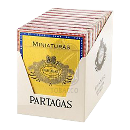 Partagas Miniatures Cigars - 3 1/4 x 26 (10 Tins of 8)