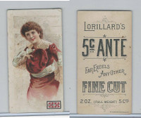 N257 Lorillard, Beautiful Women, 5 Cent Ante, 1893, (5)