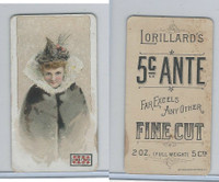 N257 Lorillard, Beautiful Women, 5 Cent Ante, 1893, (6)