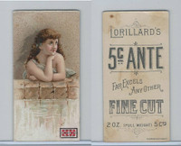 N257 Lorillard, Beautiful Women, 5 Cent Ante, 1893, (8)