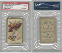 T106 ATC Cigarettes, State Girls, 1910, Connecticut-Nutmeg Girl, PSA 2 Good