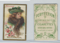 T106 ATC Cigarettes, State Girls, 1910, Michigan-Wolverine Girl