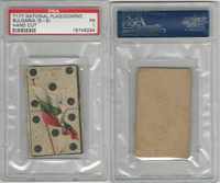 T177 American Tobacco, National Flag Domino, 1910, Bulgaria, PSA 1