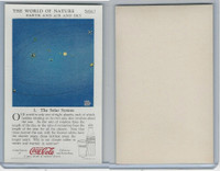 F213-3 Coca Cola, Nature Study, Earth, 1920's, #3 Solar System
