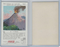 F213-3 Coca Cola, Nature Study, Earth, 1920's, #10 A Volcano