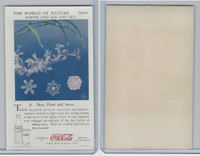 F213-3 Coca Cola, Nature Study, Earth, 1920's, #11 Dew, Frost, & Snow