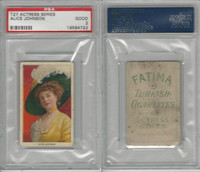 T27 Fatima, Actress Series, 1910, Alice Johnson, PSA 2 Good