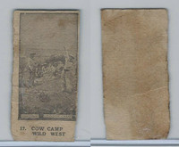 W508 Strip card, Movie Stars, 1920's, #17 Cow Camp Wild West