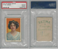 T27 Fatima, Actress Series, 1910, Ethel Green, PSA 2 MK Good