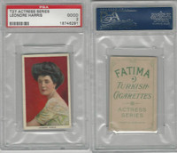 T27 Fatima, Actress Series, 1910, Leonore Harris, PSA 2 Good