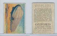 T28 Oxford Cigarettes, Aeroplane Series, 1910, The Zeppelin Airship