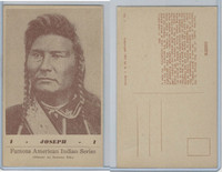 PC Post Card, Groves, Famous American Indian, 1941, #1 Joseph