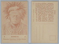 PC Post Card, Groves, Famous American Indian, 1941, #8 Keokuk