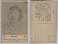 PC Post Card, Groves, Famous American Indian, 1941, #9 Osceola, Black