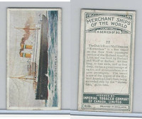 C20 Imperial Tobacco, Merchant Ships, 1924, #22 RMS Rotterdam