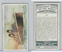 C20 Imperial Tobacco, Merchant Ships, 1924, #24 SS Duilio