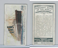 C20 Imperial Tobacco, Merchant Ships, 1924, #29 SS Belgenland