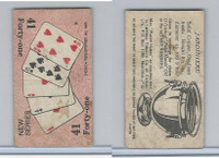 C27 Imperial Tobacco, Poker Hands, 1930, #41