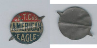 Tin Tobacco Tag, 1890's-1910's, A.T.Co's American Eagle