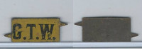 Tin Tobacco Tag, 1890's-1910's, G.T.W. (Yellow)