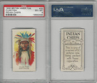 B116-0 British Am. Tobacco, Indian Chiefs, 1930, #25 Clam Fish, PSA 6 EXMT
