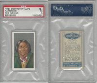 P50-78 Phillips, Red Indians, 1927, #24 Tamenend, PSA 5 EX