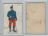 E7 Caramel, Soldier Cards, 1910, #23 Austria Hungary Officer