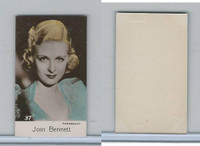 B0-0 Bridgewater, Film Stars 5th Series, 1940, #37 Joan Bennett