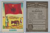 F0-0 England, Flags of the World, 1950's, #2 Albania