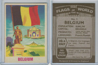 F0-0 England, Flags of the World, 1950's, #5 Belgium