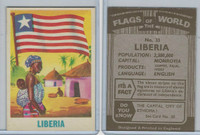 F0-0 England, Flags of the World, 1950's, #33 Liberia