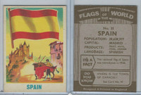 F0-0 England, Flags of the World, 1950's, #35 Spain