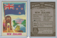 F0-0 England, Flags of the World, 1950's, #37 New Zealand
